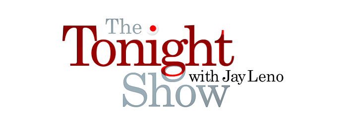 The Tonight Show logo with Century Schoolbook layered in red