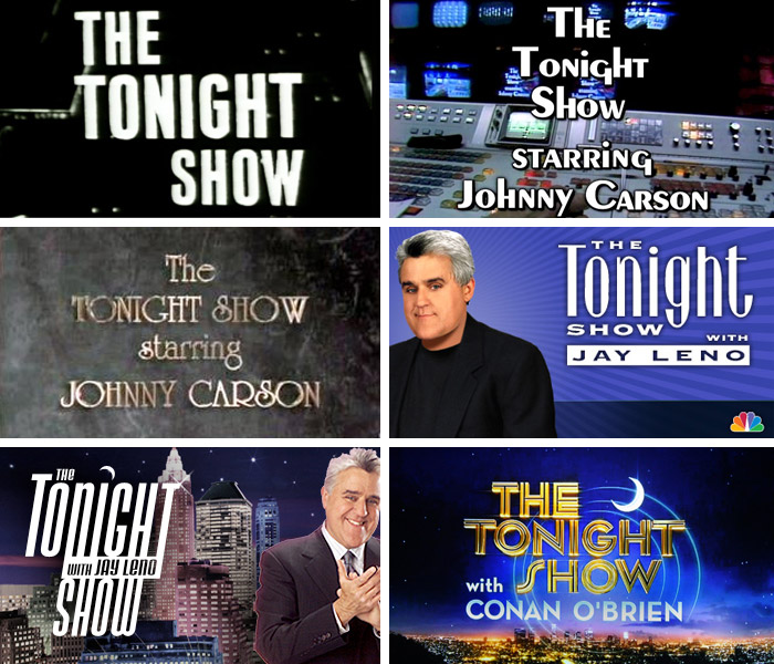 Tonight Show title cards