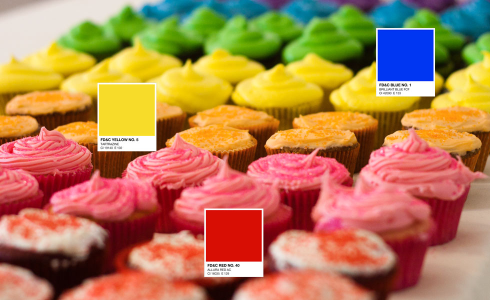 An editable color palette (Photo and some cupcakes by Skylar Challand for Jessi Arrington's Rainbow Birthday 2011)