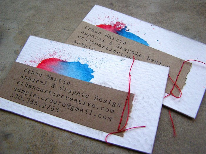 Business cards from recycled cereal boxes idsgn a design blog image reheart Choice Image
