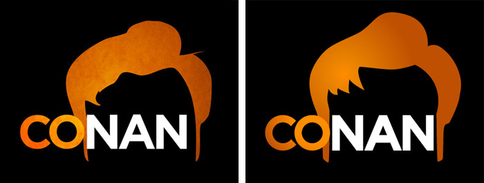 Conan's official logo (left) with some suggestions by The Nerdery (right)