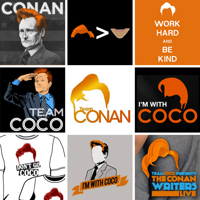 Various 'Team Coco' campaigns and promotional material