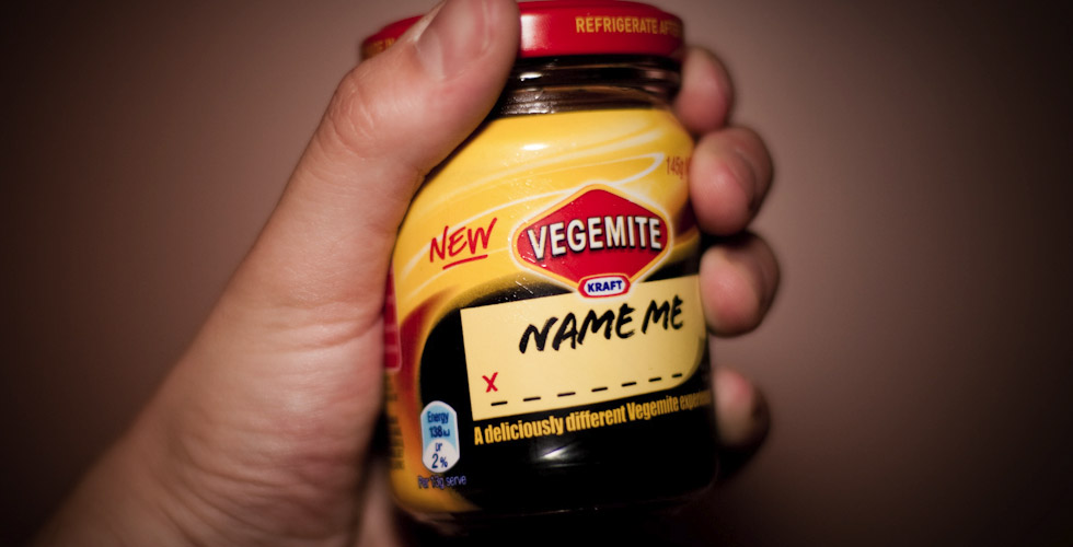 "Vegemite ""Name Me"" (Photo: mattbraga, Flickr)"