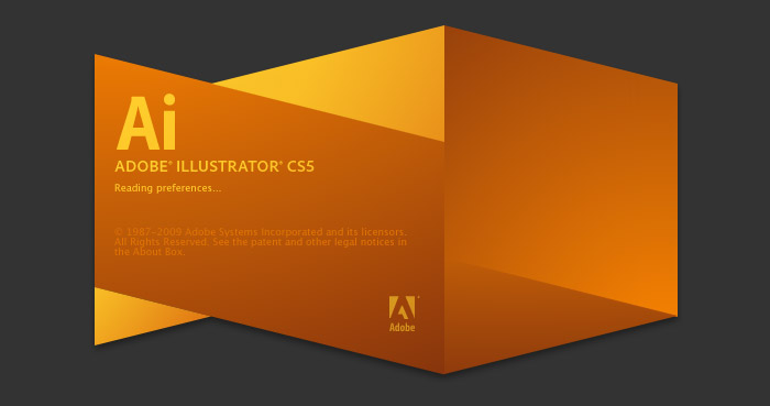 Final splash screen for Adobe Illustrator CS5