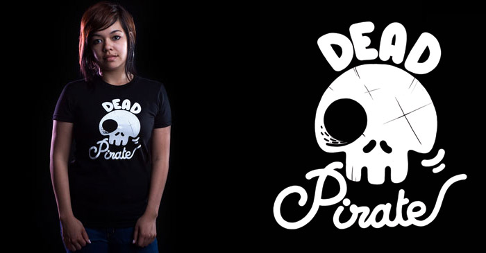Dead Pirate t-shirt on Threadless
