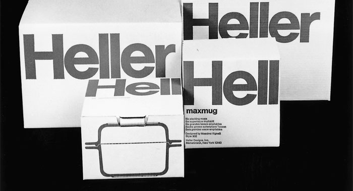 Heller glass bakeware, product design and packaging design, 1968
