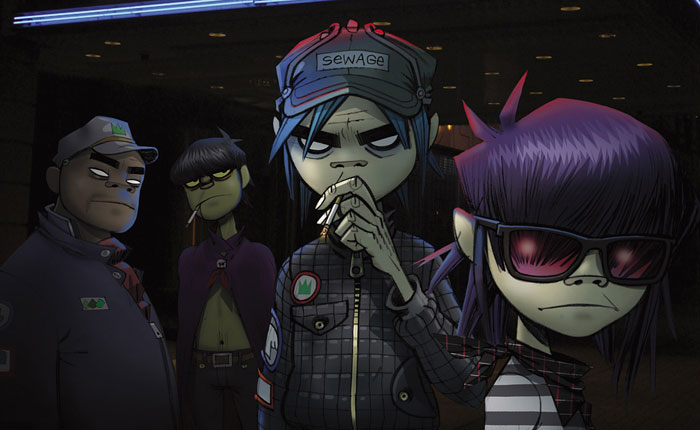 Virtual band Gorillaz is composed of four animated characters