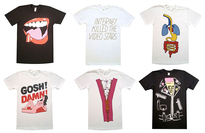 T-shirts from Justice's D.A.N.C.E. music video