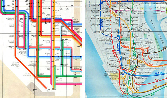 Nyc Subway Map Over Street Map.Designing A Better Subway Map Idsgn A Design Blog