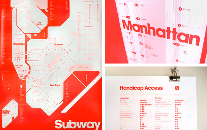 Triboro Design's one-color map manages to retain all of the content from today's map including the service guide, the city streets, and bus connections
