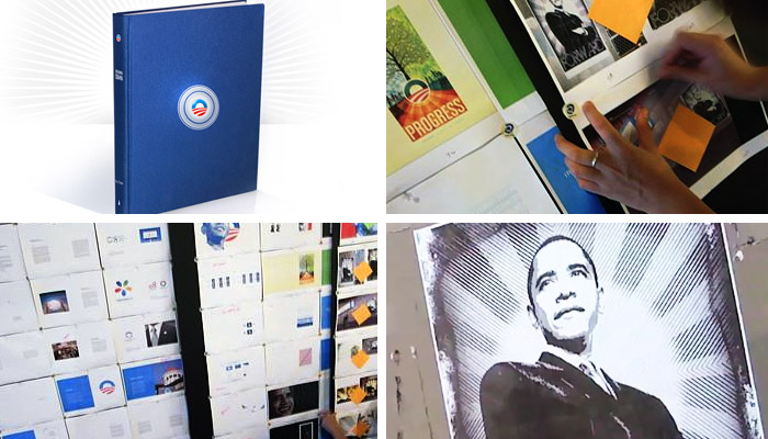 Images from Designing Obama, the book