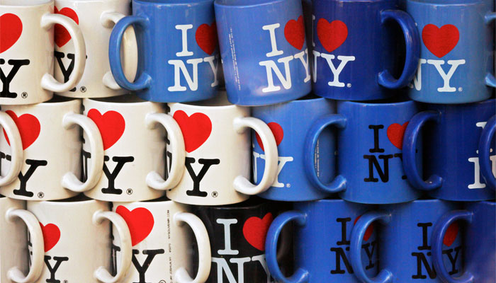 Milton Glaser's logo helped rejuvenate New York, and is now a symbol of pride on everything from t-shirts to coffee mugs (Photo: fabioricco, Flickr)