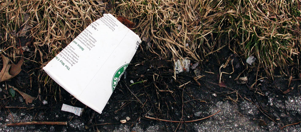 Currently around 3 billion Starbucks coffee cups are sent to landfills annually. This fall a pilot program will test recycling cups at seven stores in New York City. (Photo: Kevin Steele, Flickr)