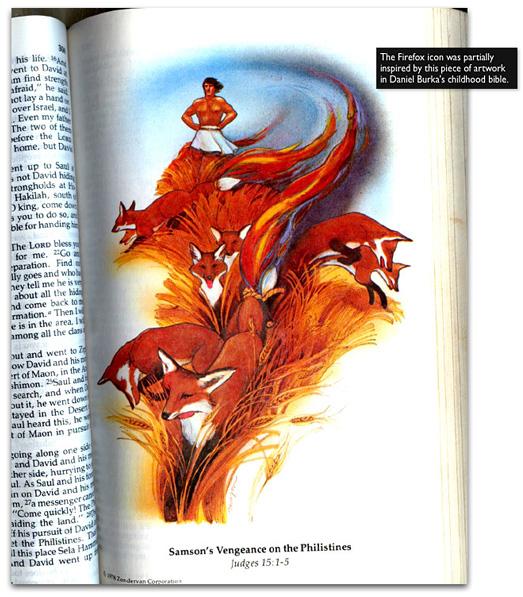 Firefox logo inspiration, bible artwork