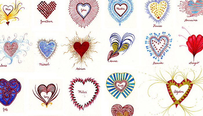 Bantjes created 150 hand-drawn Valentine's in 2007.