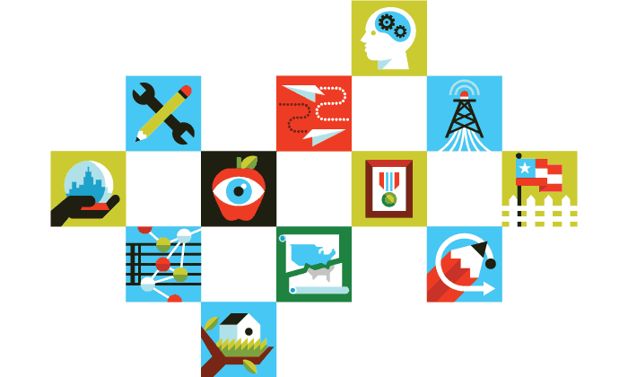 Icons for The New York Times' Opinionator blog