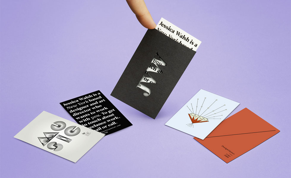 Self-promotional business cards by Jessica Walsh