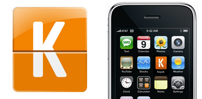 Kayak iPhone application