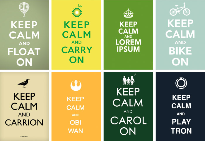 """Keep Calm and Obi Wan,"" just a few of the posters inspired by the original"