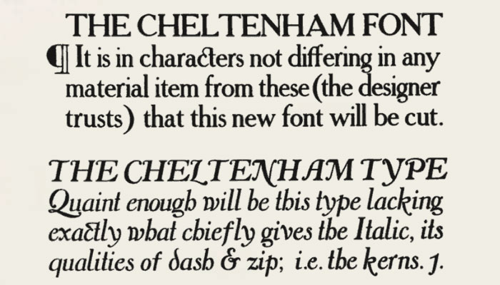 Bertram Goodhue's Cheltenham drawings
