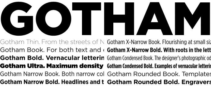 Gotham and its many variants