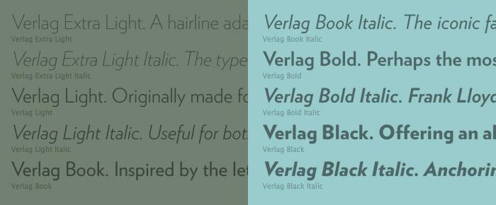 Verlag Book Font