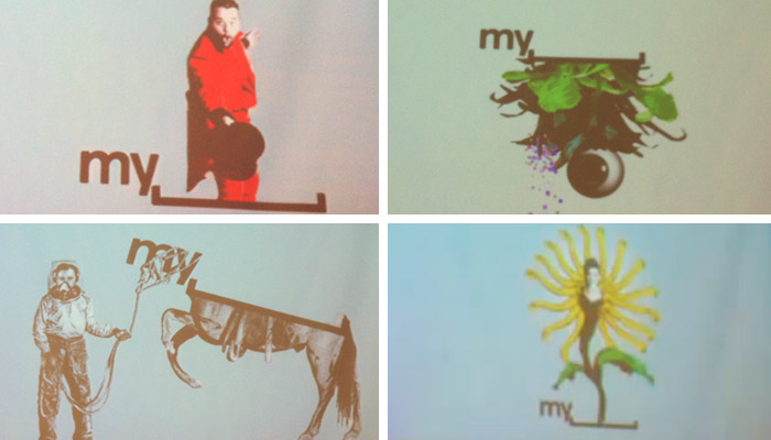Stills from a MySpace brand video shown at Warm Gun