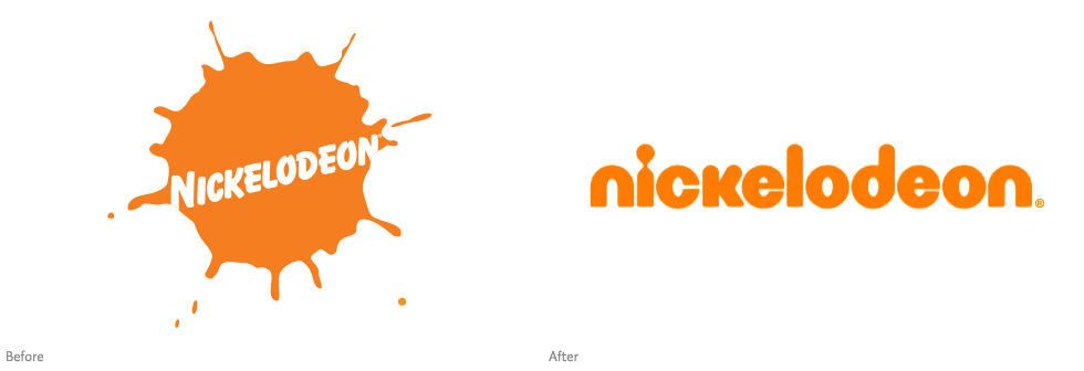 Nickelodeon's identity, before and after
