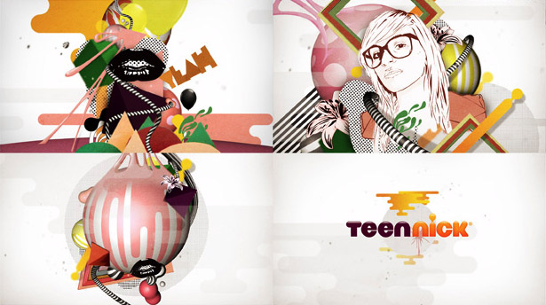 Stills from an upcoming NickTeen ident