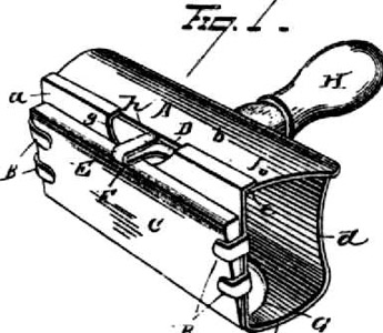 Patent for the 1880 Star safety razor (Source: razorandbrush.com)