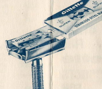 Gillette stainless steel blades, 1965 (Source: mr-razor.com)