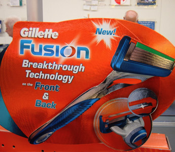 Gillette Fusion store display, 2006 (Photo: ztephen, Flickr)