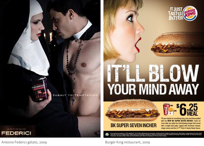 Sexualized food ads