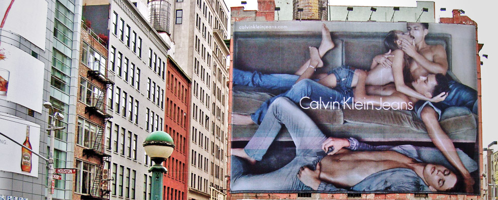 Calvin Klein billboard in New York's SoHo district (Photo: bitchcakes, Flickr)