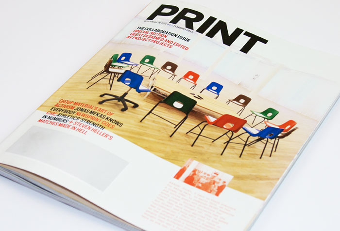 The February 2011 cover of Print magazine