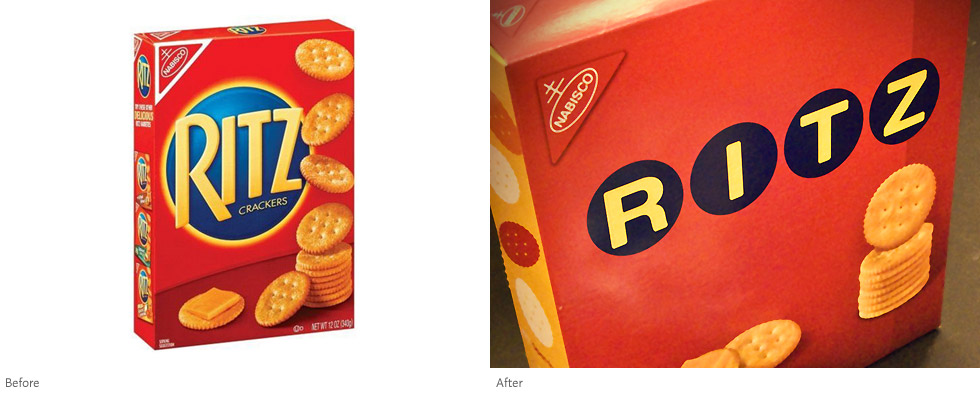 Ritz packaging (before and after), After photo by carianoff on Flickr