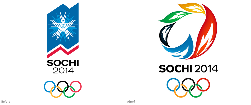 this the new logo for the 2014 Winter Olympic Games in Sochi, Russia
