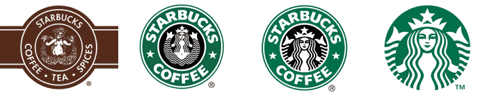 Evolution du logo Starbucks