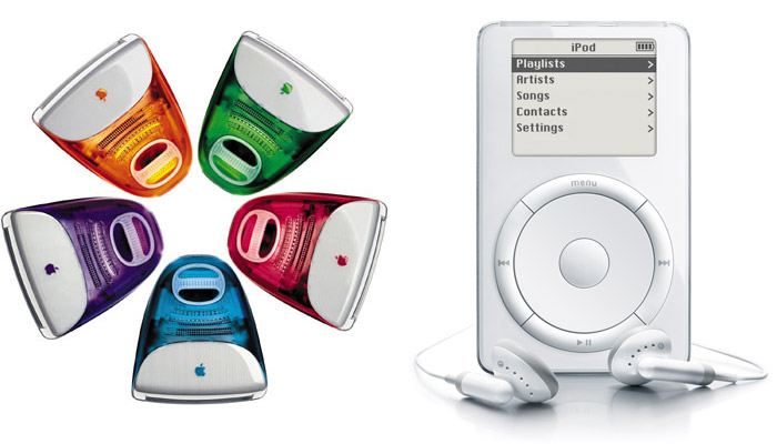 Jobs' unique appreciation for the value of design led to the ground-breaking iMac (1998) and iPod (2001), designed by Jonathan Ive