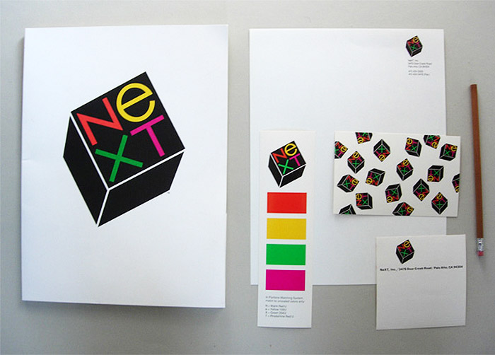 NeXT logo and collateral designed by Paul Rand in 1986 (Source: paul-rand.com)