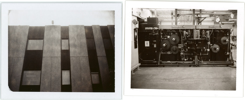 Photos of Polaroid's Dutch factory