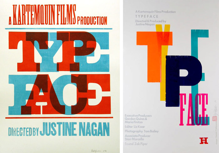Film posters designed by Nick Sherman (left), and Dennis Ichiyama