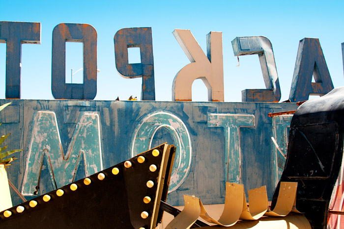 The Neon Boneyard, a typographic jackpot