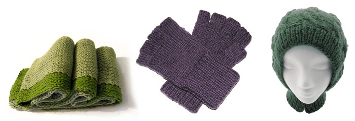 Item of the month: scarf (January), gloves (February), hats (March?)